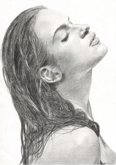 Image dessin portrait - Dessin profil ...
